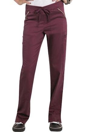 Smitten Women's Straight Leg Elastic Waistband Scrub Pant