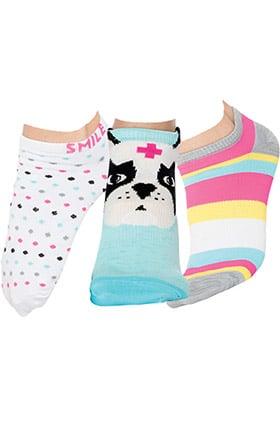 Smitten Women's Ankle Animal Print Sock 3-Pack