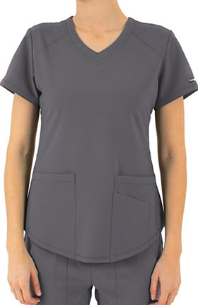 Contego Active by LifeThreads Women's Utility V-Neck Solid Scrub Top