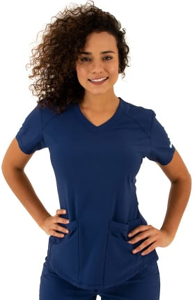 Clearance Contego Active by LifeThreads Women's Utility V-Neck Solid Scrub Top
