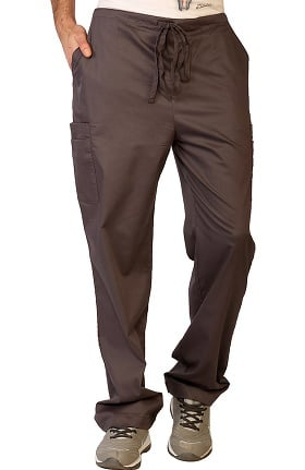 Clearance Contego by LifeThreads Men's Drawstring Cargo Stretch Scrub Pant