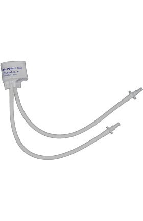 Mabis Two-Tube Single-Patient Use Cuff, Neonatal #1 (Box of 10)