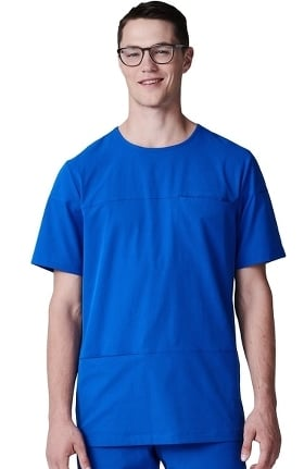 Clearance Element by Medelita Men's Radius Round Neck Solid Scrub Top