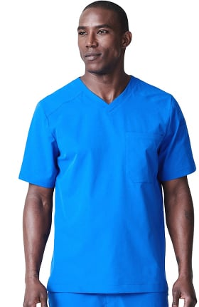 Clearance Element by Medelita Men's Apex V-Neck Solid Scrub Top