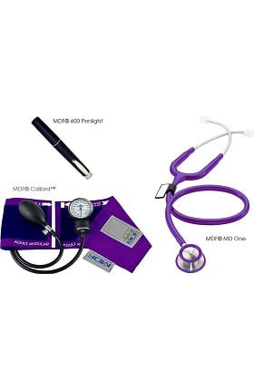 MDF Instruments Calibra™ Aneroid Sphygmomanometer, MD One Stethoscope and POCKET iLLUMiNATOR™ Penlight Kit