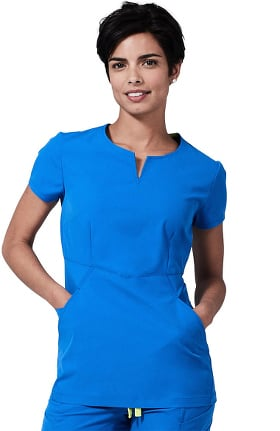 Element by Medelita Women's Horizon V-Neck Solid Scrub Top