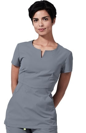 Clearance Element by Medelita Women's Horizon V-Neck Solid Scrub Top