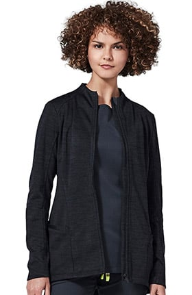 Element by Medelita Women's Ionic Zip Front Solid Scrub Jacket
