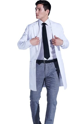 Medelita Men's H W Cushing Lab Coat