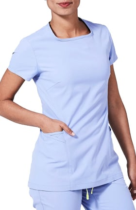 Clearance Element by Medelita Women's Meridian Square Neck Solid Scrub Top
