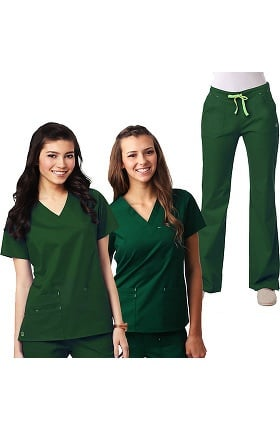 Blossom by Maevn Women's 2 Tops 1 Pant Scrub Set