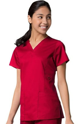 EON Women's COOLMAX V-Neck Solid Scrub Top