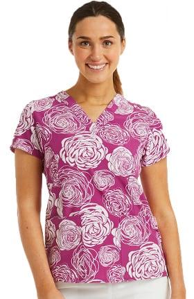 Maevn Uniforms Women's Florever Yours Print Scrub Top