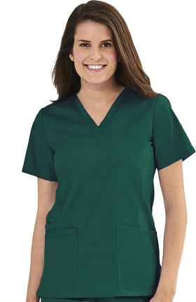 Clearance Blossom by Maevn Women's Basic V-Neck Solid Scrub Top