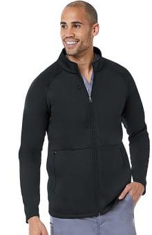 Matrix by Maevn Men's Raglan Sleeve Fleece Solid Scrub Jacket