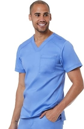 Matrix by Maevn Men's Basic V-Neck Solid Scrub Top