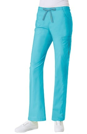 Clearance Primaflex by Maevn Women's Elastic Waist Pleated Cargo Scrub Pant