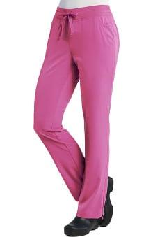 Pure Soft Women's Modern Zip Hem Yoga Scrub Pant