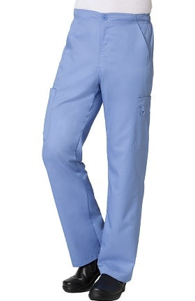 EON Men's COOLMAX® Half-Elastic Drawstring Waist Cargo Scrub Pant