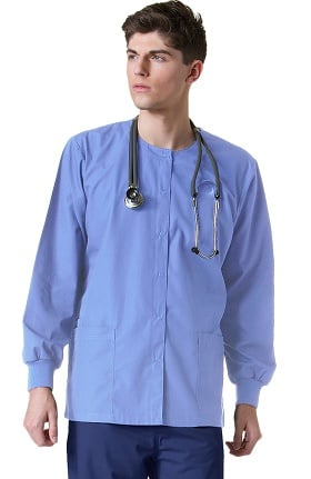 Clearance Core by Maevn Unisex Round Neck Solid Scrub Jacket
