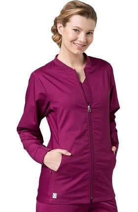 EON Women's COOLMAX Mesh Panel Solid Scrub Jacket