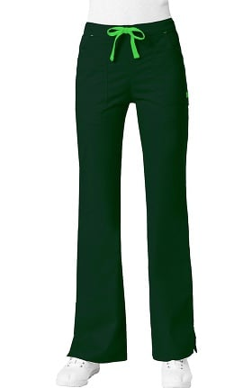Blossom by Maevn Women's Multi Pocket Flare Leg Scrub Pant