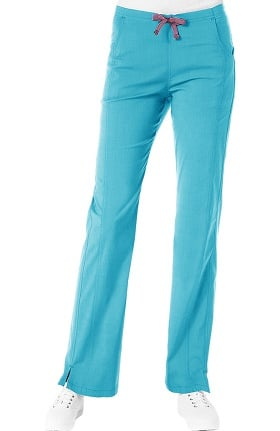 Clearance Ecoflex by Maevn Women's Half Elastic Front Panel Scrub Pant