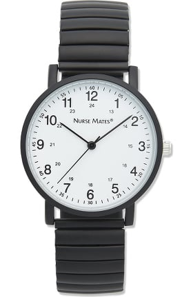 Nurse Mates Women's Expandable Silicone Strap Watch