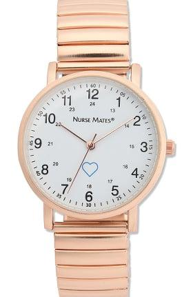 Nurse Mates Women's Expandable Silicone Strap Watch