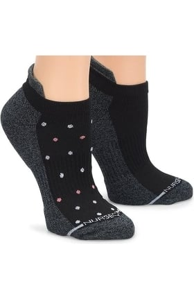 Nurse Mates Women's Support Compression Anklet Socks 2 Pack
