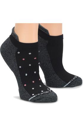 Nurse Mates Women's Support Compression Anklet Socks 2 Pack