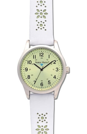 Nurse Mates Women's Floral Cut-Out Watch