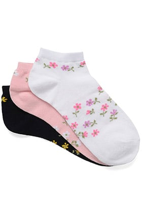 Nurse Mates Women's Spring Floral Ankle Socks 3 Pack