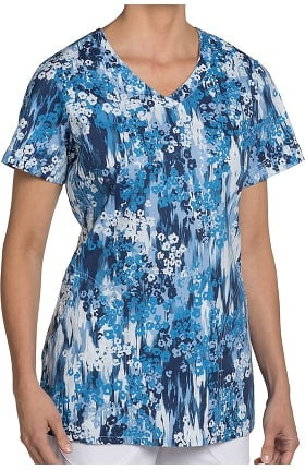 Nurse Mates Women's Hope V-Neck Floral Print Scrub Top