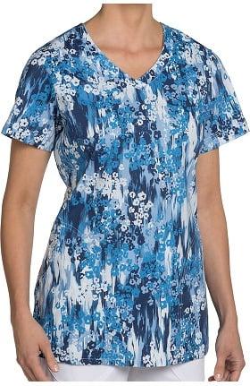 Nurse Mates Women's Hope V-Neck Floral Print Scrub Top