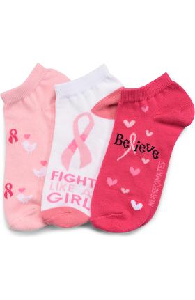 Nurse Mates Women's Anklet Socks 3 Pack