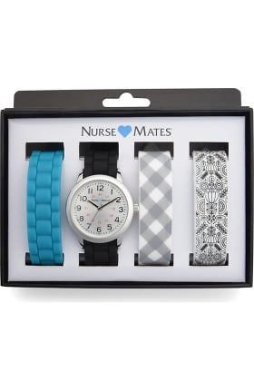 Nurse Mates Women's Garden Party Watch Gift Set