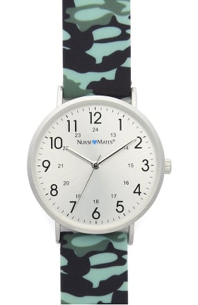 Nurse Mates Women's Camo Print Silicone Watch