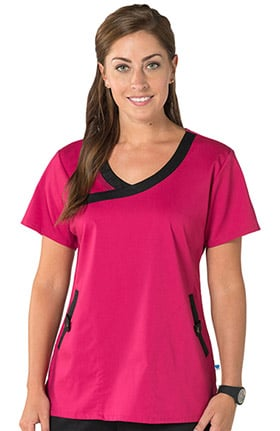 Nurse Mates Women's Olivia Y-Neck Solid Scrub Top