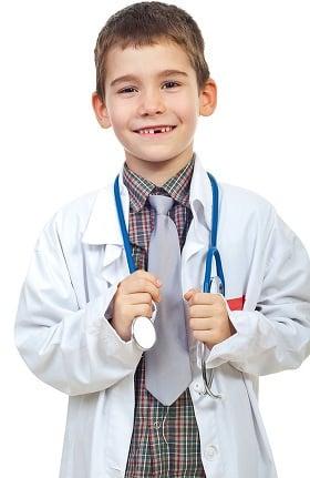 "Clearance Natural Uniforms Unisex Kid's 16"" Lab Coat"