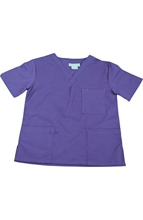 Clearance Natural Uniforms Unisex 3 Pocket Solid Scrub Top