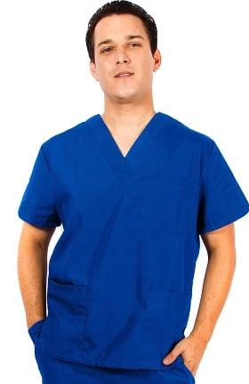 infinity uniforms. natural uniforms unisex v-neck solid scrub top infinity