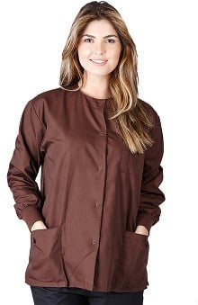 Natural Uniforms Women's Warm Up Solid Scrub Jacket