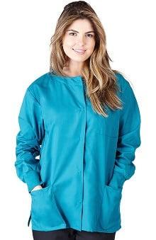 Natural Uniforms Women's Warm Up Solid Scrub Jacket