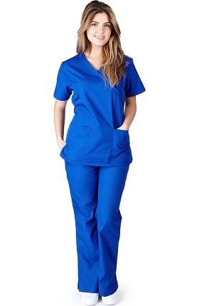 Clearance Natural Uniforms Women's Mock Wrap Scrub Set