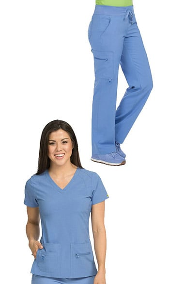 b5f7cad90d8 Activate by Med Couture Women s Refined V-Neck Solid Scrub Top   Transf