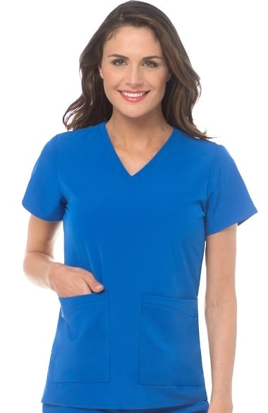 25483198832 4-EVER Flex By Med Couture Women's Admire V-Neck Solid Scrub Top | allheart