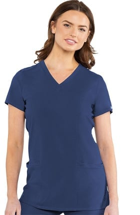 Clearance Austin by Med Couture Women's Modern Tunic Solid Scrub Top