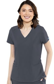 Austin by Med Couture Women's 5 Pocket Solid Scrub Top