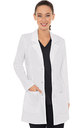 "Med Couture Women's Chic Empire Seam 33"" Lab Coat"